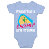 If You Don't Live In Chelmer You're Just Camping - AS Colour Mini Me - Baby Onesie Romper