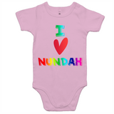 I Love Nundah - AS Colour Mini Me - Baby Onesie Romper