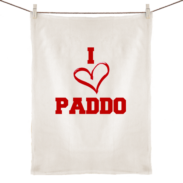 I Love Paddo - 100% Linen Tea Towel