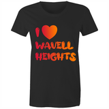 I Love Wavell Heights - AS Colour Wafer - Womens Crew T-Shirt