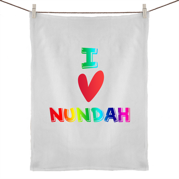I Love Nundah - 50% Linen 50% Cotton Tea Towel