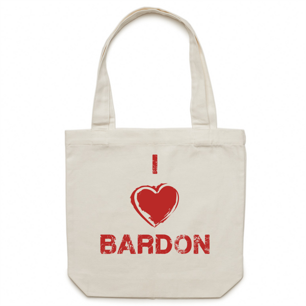 I Love Bardon - Carrie - Canvas Tote Bag