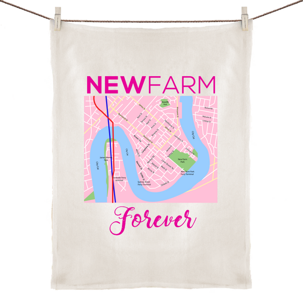 New Farm Forever - 100% Linen Tea Towel