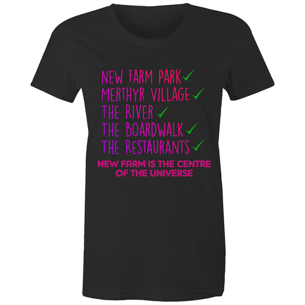 New Farm Park Is The Centre Of The Universe - AS Colour Wafer - Womens Crew T-Shirt