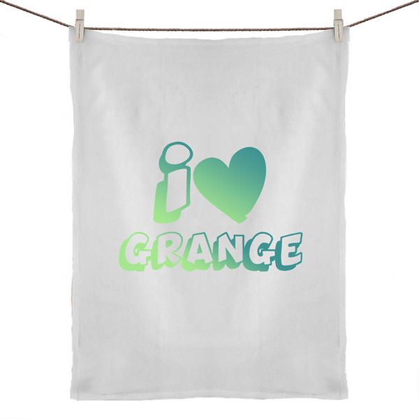 I Love Grange - 50% Linen 50% Cotton Tea Towel