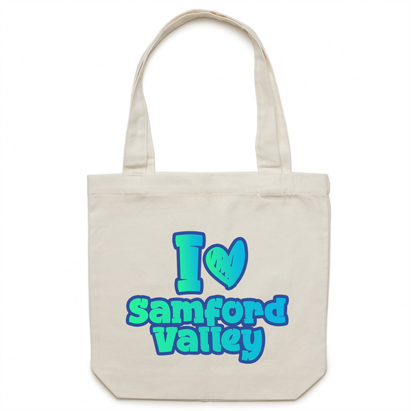 I Love Samford Valley - AS Colour - Carrie - Canvas Tote Bag