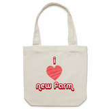 I Love New Farm - Carrie - Canvas Tote Bag