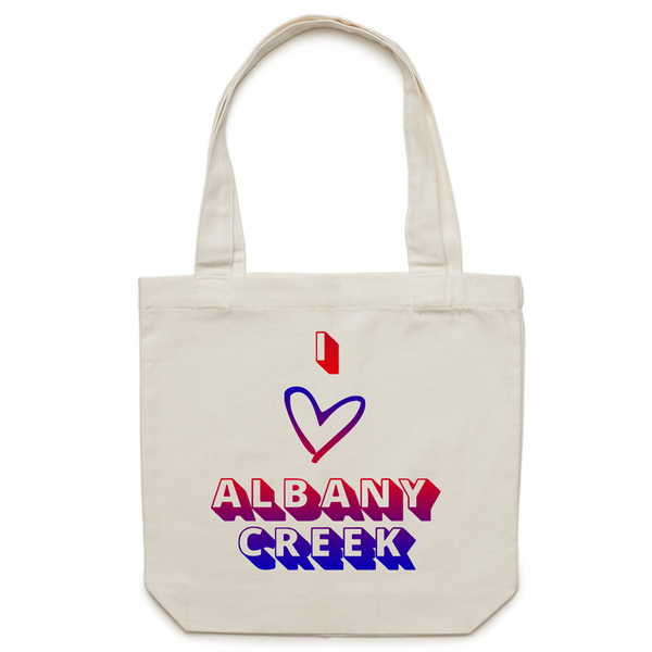 I Love Albany Creek - AS Colour - Carrie - Canvas Tote Bag