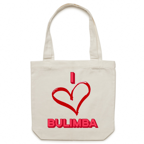 I Love Bulimba - Carrie - Canvas Tote Bag