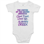 Albany Creek Centre Of The Known Universe - AS Colour Mini Me - Baby Onesie Romper