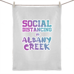 Social Distancing in Albany Creek - 50% Linen 50% Cotton Tea Towel