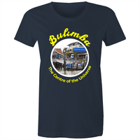 Bulimba The Centre Of The Universe - AS Colour Wafer - Womens Crew T-Shirt