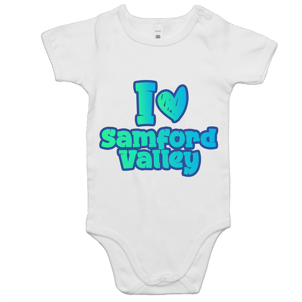 I Love Samford Valley - AS Colour Mini Me - Baby Onesie Romper