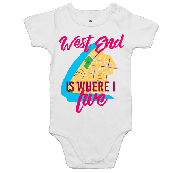 West End Is Where I Live - AS Colour Mini Me - Baby Onesie Romper