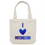 I Love Mitchelton - AS Colour - Carrie - Canvas Tote Bag
