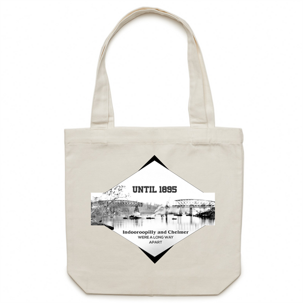 Until 1895 Indooroopilly and Chelmer were a long way apart - AS Colour - Carrie - Canvas Tote Bag