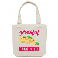 Graceful Graceville - Carrie - Canvas Tote Bag