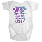 Albany Creek Centre Of The Known Universe - Ramo - Organic Baby Romper Onesie