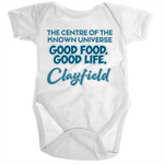 Clayfield Centre Of The Known Universe - Ramo - Organic Baby Romper Onesie