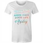 Aspley Centre Of The Known Universe - AS Colour Wafer - Womens Crew T-Shirt