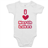 I Love North Lakes  - AS Colour Mini Me - Baby Onesie Romper