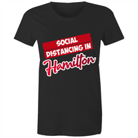 Social Distancing in Hamilton - AS Colour Wafer - Womens Crew T-Shirt
