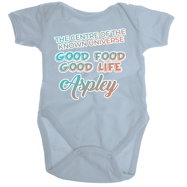 Aspley Centre Of The Known Universe - Ramo - Organic Baby Romper Onesie