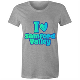 I Love Samford Valley - AS Colour Wafer - Womens Crew T-Shirt