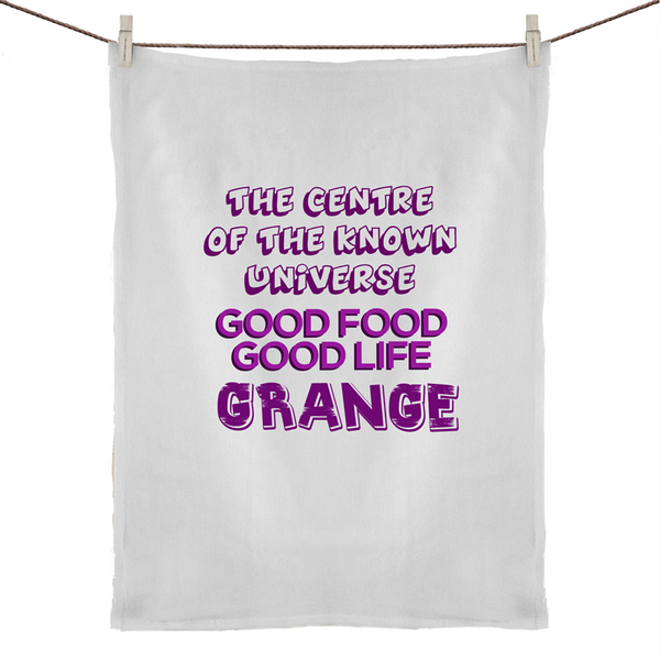 Grange Centre Of The Known Universe - 50% Linen 50% Cotton Tea Towel