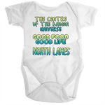 North Lakes Centre Of The Known Universe - Ramo - Organic Baby Romper Onesie