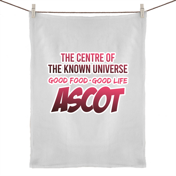 Ascot Centre Of The Known Universe - 50% Linen 50% Cotton Tea Towel