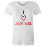 I Love Chermside - AS Colour Wafer - Womens Crew T-Shirt