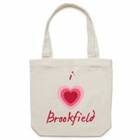 I Love Brookfield - Carrie - Canvas Tote Bag