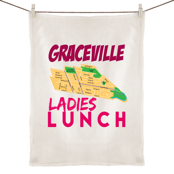 Graceville Ladies Lunch - 100% Linen Tea Towel