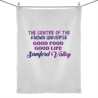 Samford Valley Centre Of The Known Universe - 50% Linen 50% Cotton Tea Towel