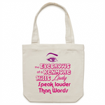 The Eyebrows Of A Kenmore Hills Lady Speak Louder Than Words - Carrie - Canvas Tote Bag