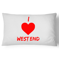 I Love West End - Pillow Case - 100% Cotton
