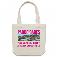 Paddo Babes Are Classy, Sassy & A Bit Smart Assy - Carrie - Canvas Tote Bag