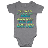 North Lakes Centre Of The Known Universe - AS Colour Mini Me - Baby Onesie Romper