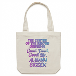 Albany Creek Centre Of The Known Universe - AS Colour - Carrie - Canvas Tote Bag