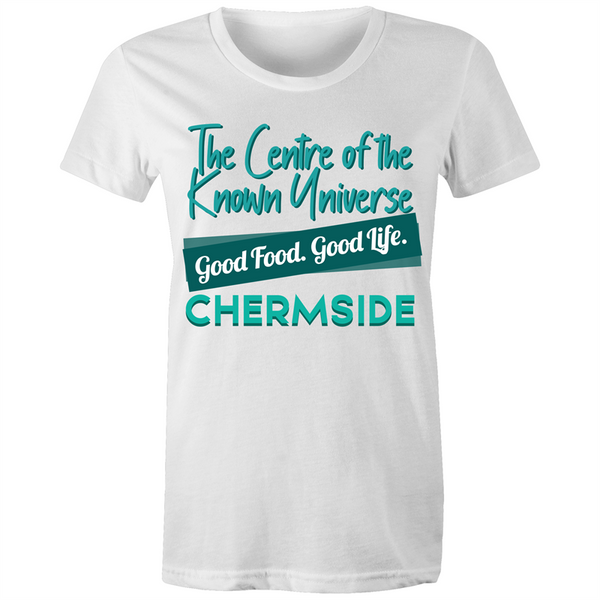 Chermside Centre Of The Known Universe - AS Colour Wafer - Womens Crew T-Shirt