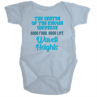 Wavell Heights Centre Of The Known Universe - Ramo - Organic Baby Romper Onesie