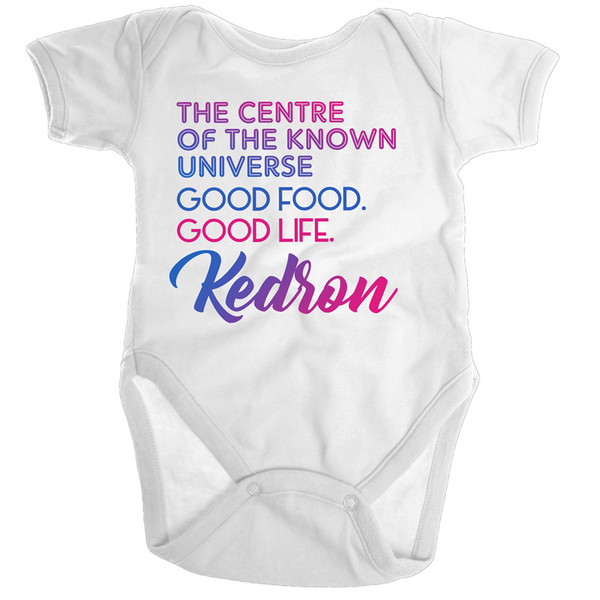 Kedron Centre Of The Known Universe - Ramo - Organic Baby Romper Onesie