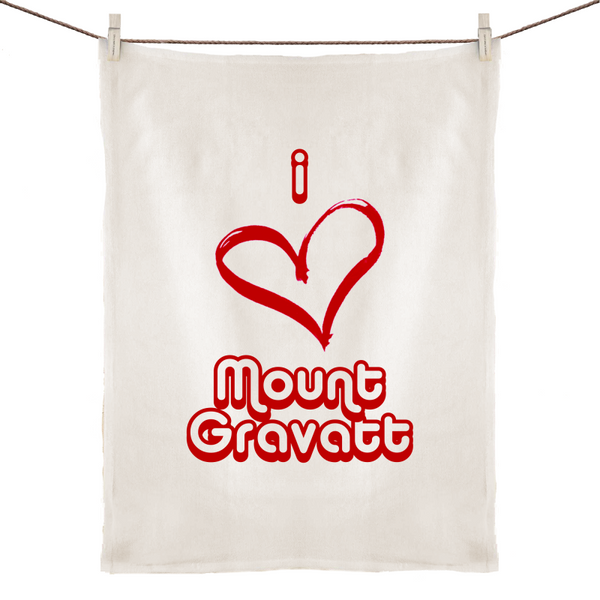 I Love Mount Gravatt - 100% Linen Tea Towel
