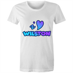I Love Wilston - AS Colour Wafer - Womens Crew T-Shirt