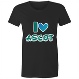 I Love Ascot - AS Colour Wafer - Womens Crew T-Shirt