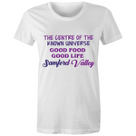 Samford Valley Centre Of The Known Universe - AS Colour Wafer - Womens Crew T-Shirt