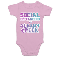 Social Distancing in Albany Creek - AS Colour Mini Me - Baby Onesie Romper