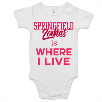 Springfield Lakes Is Where I Live - AS Colour Mini Me - Baby Onesie Romper