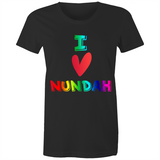 I Love Nundah - AS Colour Wafer - Womens Crew T-Shirt